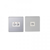 MiHome Smart Polished Chrome 2 Gang Light Switch (Two-way)