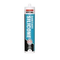 Soudal Sanitary Silicone White 290ml Cartridge