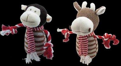 Christmas Monkey & Cow Toy x 4