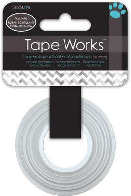 Tape Foil Chevron Silver