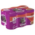 Whiskas 1+ Adult Cat Cans - Meat Selection in Jelly 6pk x 4