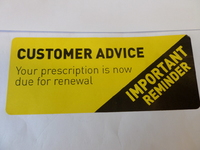 CUSTOMER ADVICE LABEL YELLOW 35mm x 105MM (ROLL 1000)