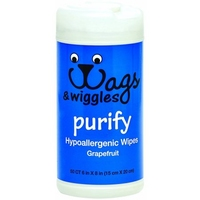 Wags & Wiggles 'Purify' Hypoallergenic Wipes x50