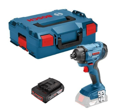 Bosch GDR18V160M1P 18v Impact Driver C/W 1 x 2.0Ah Li-ion Battery & Charger in L-boxx