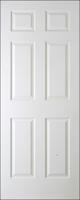 Regency Door 6 Panel White Woodgrain 80x32 inch