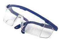 GLASSES ADULT CLEAR RED FRAME