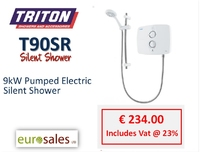 TRITON T90SR 9KW WHITE PUMPED ELECTRIC  SILENT SHOWER