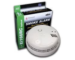 EI MAINS RECHARGEABLE OPTICAL SMOKE ALARM