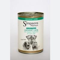 Simpsons Premium Adult Dog Can Organic Lamb Casserole 400g x 6