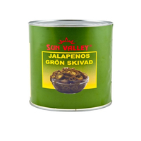 Tin Jalapeno Sliced- Sun Valley 3kg