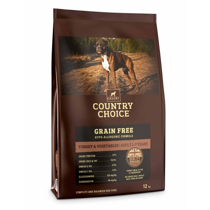 Gelert Country Choice Grain Free Turkey & Vegetable Dog Food 12kg