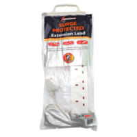 13AMP 6 WAY SURGE EXTENSION LEAD COMPLETE WITH 2 MTRS CABLE