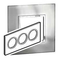 Arteor (British Standard) Plate 6 Module Round Stainless Steel | LV0501.0210