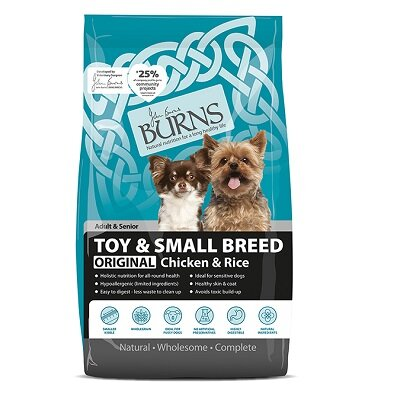 Burns Original with Chicken & Rice Toy & Small Dog Food 6kg