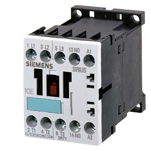 SIEMENS Contactor, AC-3 5.5 KW/400 V, 1 NO, AC 110 V, 50/60 HZ, 3-Pole, Size S00, Screw Connection