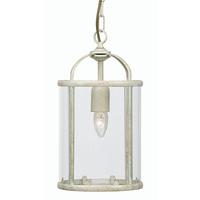 Fern 1 Light E27 Lantern Cream Gold