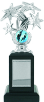 22cm Silver Star Trophy on Black Base