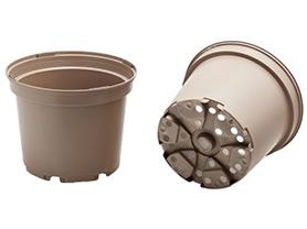 Taupe Plastic Plant Pots