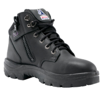 Steel Blue Parkes Women's Lace Up/Zip Safety Boot with Bump Cap Black