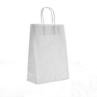 Twist Handle Carrier Bag White 320mm x 140mm x 420mm