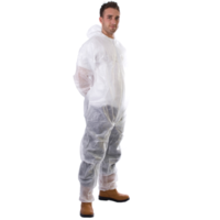 Coated Polyprop Boiler Suit White (XL)