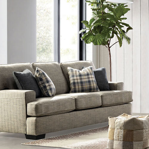 Tides Fabric 3 Seater Sofa Styled