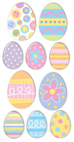 Easter Eggs Large Essential Craft Sticker. (Priced in singles, order in multiples of 6)