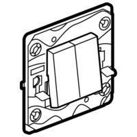 Arteor (Single Pole) 20Amp Way Gang Switch Square - White | LV0501.0002