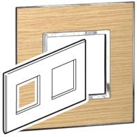 Arteor (British Standard) Plate 2x2 Module 2 Gang Sqaure Light Oak | LV0501.0954