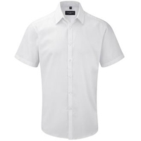 Russell Gents Short Sleeve Herringbone Shirt