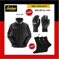 SNICKERS 1148 CRAFTSMENS WINTER JACKET + Free Snickers Gloves + Free Snickers Socks (Snickers Special Discount offer)