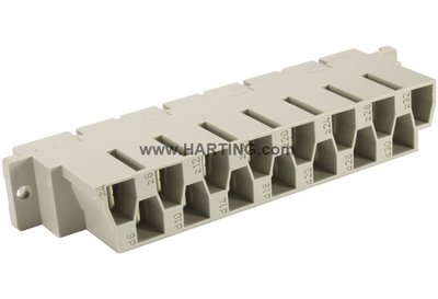15 way Power DIN Connector Female with Faston Connectors