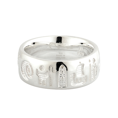 STERLING SILVER HISTORY OF IRELAND RING(BOXED)