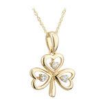14k gold diamond shamrock pendant s45610 from Solvar