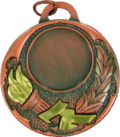 50mm Bronze Medal with Relief Victory Torch
