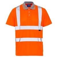 Supertouch Hi-Visibility Bird Eye Polo Shirt, Orange