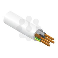 4x0.75mm PVC Flex White