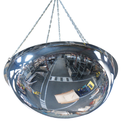 PMMA half-sphere 360 degree industrial dome mirrors for ceiling mounting