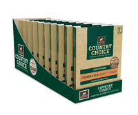 Gelert Country Choice Dog Trays Chicken 395g x 10 [Zero VAT]