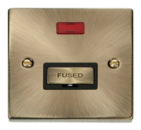 Click Deco Victorian Antique Brass with Black Insert Fused Spur without Neon | LV0101.0017