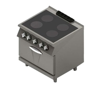Mareno 4 Zone Ceramic Top Oven Range 800x730x900mm