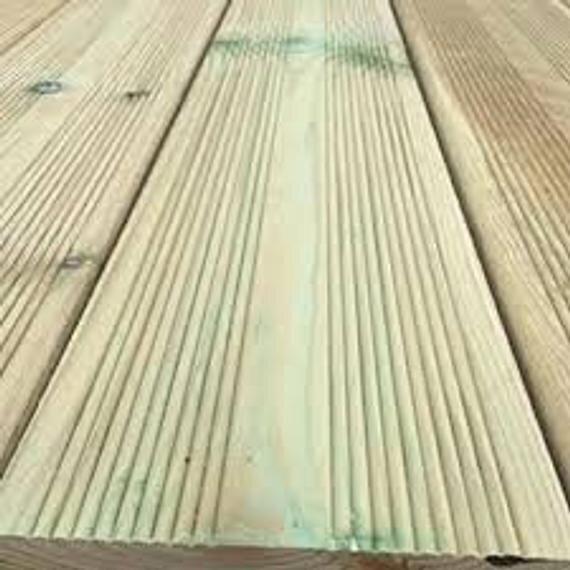 Timber Garden Decking 6 Inch X 1.5 Inch X 16 Ft