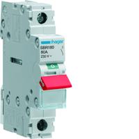 Hager SBR180 Isolator Switch 80A Single Pole
