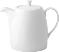 Anton Black Fine China Tea Pot 35oz 1 Litre Carton of 6