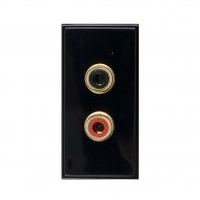 Triax Twin RCA Insert Black (304279)