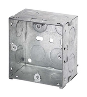1 Gang 47mm deep Galvanised Steel K.O Box