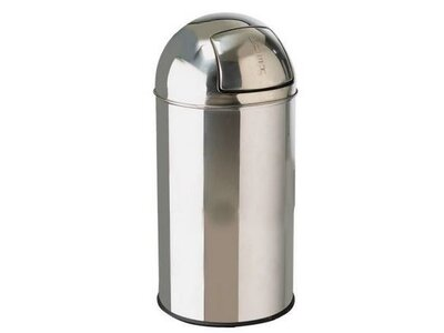 Push Bin Silver 40L 35x72cm