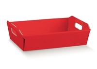 BOX TRAY 220X160X50MM  RED