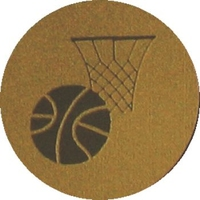 Basketball (25mm Gold Centre)
