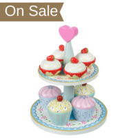 Wooden Cream Tea Set